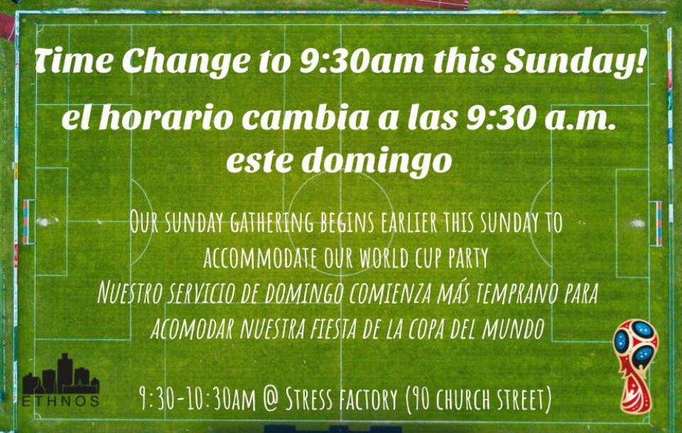 Sunday Gathering Time Change for July 15