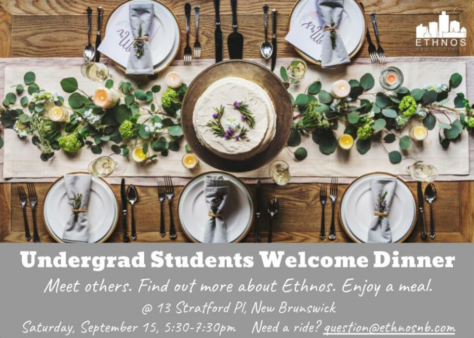 Undergrad Welcome Dinner
